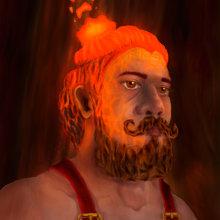 Hephaestus Self-Portrait. Un projet de Peinture numérique de Jaime Assis Rodrigues - 17.12.2020