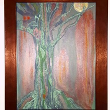 Chartreuse Crucifixion. A Acr, and lic Painting project by Lillith Lockler - 12.21.2020