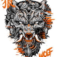 Fu Wolf. A Digital illustration & Illustration project by Daniele Caruso - 12.22.2020