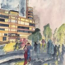 My project in Urban Landscapes in Watercolor course. Un proyecto de Ilustración arquitectónica de Didier Van Impe - 23.12.2020
