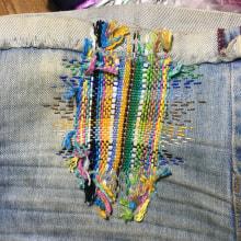 Meu projeto do curso: Bordado: conserto de roupas. Um projeto de Bordado de Madeira de Vento - 26.12.2020