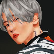 Beackhyung. Un proyecto de Ilustración, Dibujo realista, Dibujo artístico y Dibujo digital de Jennifer Pupo Martínez - 26.12.2020