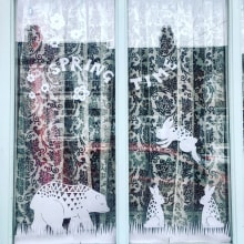Paper cut window pictures. A Paper Craft project by Madeline Norris - 12.28.2020