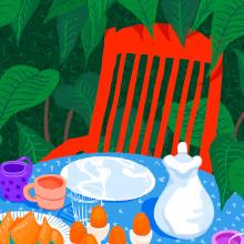 Desayuno en el jardín. Um projeto de Ilustração de Gisele Murias - 30.12.2020