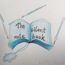 The silent notebook . Un progetto di Illustrazione, Scrittura, Disegno a matita, Stor, telling , e Gestione di un portfolio di Dina Selisiou - 28.12.2020
