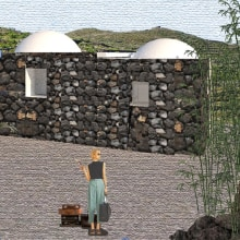 A Dammuso in Pantelleria Island: my final project for the Architectural Visualization Using Digital Collage course. A Architectural illustration project by Cristina Prina-Ricotti - 01.01.2021