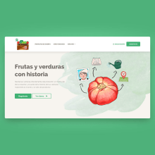 Mi Huerto Web Website Design. Un projet de Web Design , et Développement web de Francisco Aguilera G. - 03.01.2021