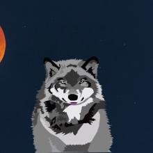 Lobo aullando. Un proyecto de Ilustración y Animación de Camila Maturana García - 05.09.2020