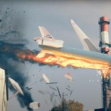 Plane Crash Vfx. A Film, Video, TV, 3D, VFX, 3D Animation, and 3d modeling project by Milan Nikolic - 01.06.2021