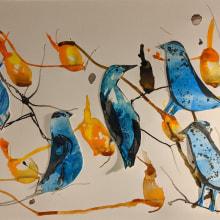 Mi Proyecto del curso: Naturaleza ilustrada: una exploración creativa. A Illustration, and Watercolor Painting project by Brenda Oliva - 01.06.2021