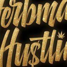 Herbman Hustlin. A Lettering, Logodesign, 3-D-Lettering, H und Lettering project by Eduardo Morgan - 08.01.2021