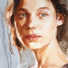 Watercolor Portraits from photo reference. A Bildende Künste, Aquarellmalerei, Porträtzeichnung und Anatomische Zeichnung project by Michele Bajona - 08.01.2021