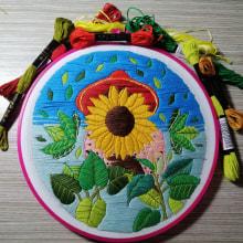 Mi Proyecto del curso: Introducción al bordado botánico. A Embroider project by Auris Ordóñez - 01.09.2021