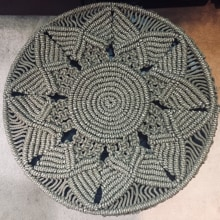 Mi Proyecto del curso: Técnicas de macramé circular. Um projeto de Macramê de Yessica Leaño - 10.01.2021