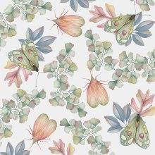 Patron de insectos y hojas. Un projet de Aquarelle de Cristina Cilloniz - 11.01.2021
