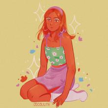 Flower power. Un proyecto de Ilustración, Diseño de personajes e Ilustración digital de Sara Vilà Cardona - 12.01.2021