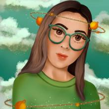 Mi Proyecto del curso: Retratos digitales de fantasía con Photoshop. Un proyecto de Ilustración y Diseño 3D de Vania Franco - 10.01.2021
