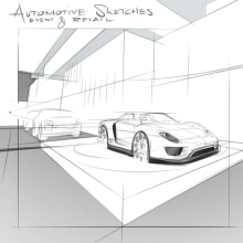 Miscellaneous Automotive Event and Retail Sketches . A Skizzenentwurf und Digitale Illustration project by Timo Mueller - 15.01.2021