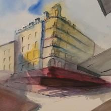 My project in Architectural Sketching with Watercolor and Ink course. Un proyecto de Pintura a la acuarela de Didier Van Impe - 16.01.2021