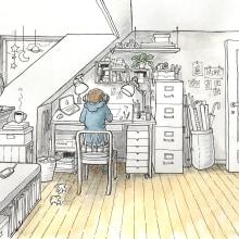 The art of sketching I. A Illustration, Skizzenentwurf und Sketchbook project by Karin Due Østergaard-Jensen - 18.01.2021