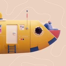 Sardinha 2020. Um projeto de Ilustração, 3D e Design de personagens 3D de Itsacat&Goodog - 18.01.2021