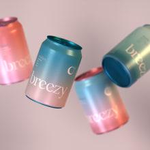 Breezy. A 3-D, Br, ing und Identität, Verpackung und Logodesign project by Ramon Bosch - 19.01.2021