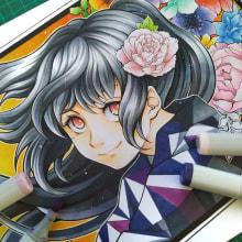 New Year !. A Manga Drawing & Illustration project by Tania Oksentiuk - 01.20.2021