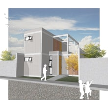 Proyecto COTOT Vivienda Social Progresiva. Un proyecto de Arquitectura, Arquitectura digital e Ilustración arquitectónica de Gabriel Bermudes - 02.07.2020