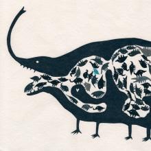 Los Hugos. Un proyecto de Ilustración, Collage y Papercraft de Paz Tamburrini - 21.01.2021