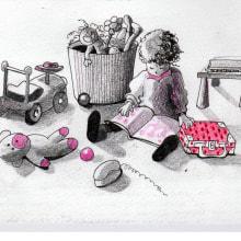Del relato autobiográfico al cuento ilustrado: La maleta de Inés. Un projet de Illustration, Dessin au cra, on, Dessin et Illustration jeunesse de Marieta Alonso-Collada - 23.01.2021