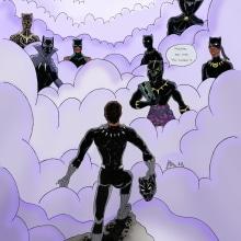 Chadwick Forever. Un proyecto de Ilustración, Cómic, Ilustración digital e Ilustración con tinta de Alejandro Fuentes Alonso - 24.09.2020