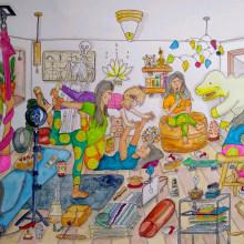 Mi Proyecto del curso: Sketching creativo: llena tus ilustraciones de vida y detalle. A Illustration, Comic, Creativit, Drawing, and Watercolor Painting project by Ana Karina Moreno - 01.30.2021