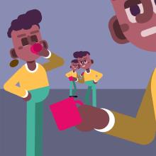 Ejercicio Café para Todos: Animación y diseño de personajes en After Effects. Un proyecto de Motion Graphics, Animación, Diseño de personajes, Ilustración vectorial y Animación 2D de Roman Lara - 30.01.2021