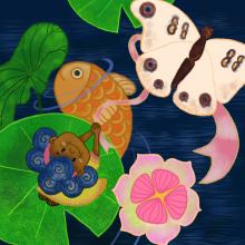 Projeto Final: Ilustração Digital, A Polegarzinha.. A Illustration, Digital illustration, and Children's Illustration project by Luciana Poti de Souza - 01.30.2021