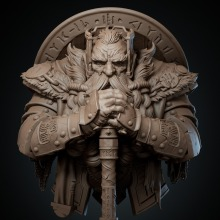 Omurtag. Um projeto de 3D, Modelagem 3D e Design de personagens 3D de Juan Novelletto - 01.01.2021