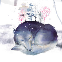 Premières neiges. A Illustration, Editorial Design, Painting, Drawing, Digital illustration, Watercolor Painting, Artistic drawing, Children's Illustration, Acr, lic Painting, Music Production, Digital Drawing, Ink Illustration, Editorial Illustration, and Gouache Painting project by Adolfo Serra - 02.02.2021