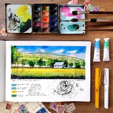 Mi Proyecto del curso: Cuaderno de viaje en acuarela. A Illustration project by Alicia Aradilla - 02.05.2021