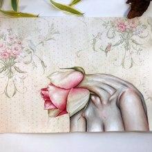 """""""Flower Heads"""" for my Exhibition """"I AM"""". Un progetto di Pittura ad acquerello di Arthur Braud - 07.02.2021"""