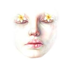 Faded Dreams. Un progetto di Illustrazione, Pittura ad acquerello, Illustrazione di ritratto, Disegno di ritratto e Illustrazione botanica di Arthur Braud - 07.02.2021