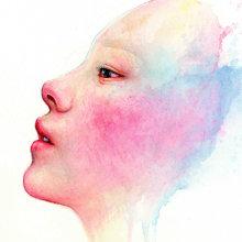 Rainbow Child. Un progetto di Illustrazione, Pittura ad acquerello, Illustrazione di ritratto , e Disegno di ritratto di Arthur Braud - 07.02.2021