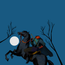 A lenda do cavaleiro sem cabeça - Sleepy Hollow. Um projeto de Ilustração, Desenho, Ilustração infantil, Desenho digital, Narrativa e Ilustração editorial de Weberson Santiago - 07.02.2021