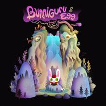 Bunniguru & Egg. Un progetto di Illustrazione, Cinema, video e TV, Character Design, Illustrazione digitale , e Arte concettuale di Nathan Jurevicius - 09.02.2021