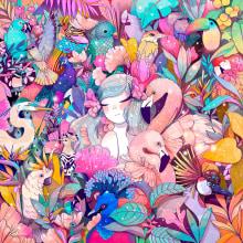 ATMÓSFERAS. A Illustration, Digital illustration, Botanical illustration, and Editorial Illustration project by Karla Hernández / Charlötte - 02.07.2021