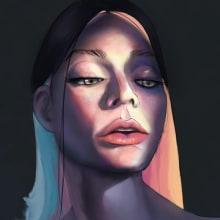 Mi Proyecto del curso: Retratos digitales de fantasía con Photoshop. Un proyecto de Ilustración, Dibujo, Ilustración digital, Ilustración de retrato, Dibujo de Retrato, Dibujo digital y Pintura digital de David López - 08.02.2021