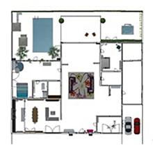 Mi Proyecto del curso: Diseño de interiores de principio a fin Apt de i habitación y un Estudio Multifuncional. Casa y Oficina . Un proyecto de Animación 3D de Nuvia Quintana - 11.02.2021