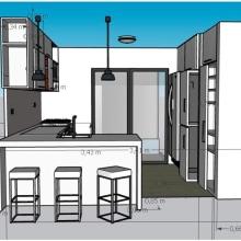 Mi Cocina: Diseño de interiores de principio a fin. Un proyecto de 3D, Cocina, Arquitectura interior y Diseño de interiores de Andrea Muvdi - 11.02.2021