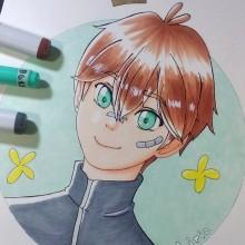 Mi Proyecto del curso: Coloreado con marcadores para dibujo manga. A Drawing, and Manga Drawing project by Romina Lorca Morales - 02.13.2021