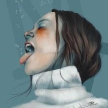 Mi Proyecto del curso: Retrato ilustrado con Procreate. Un proyecto de Dibujo digital e Ilustración digital de Roberta Nozza - 14.02.2021