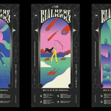Diálogos 2021 - La lucha contra el proceso creativo. A Design, Illustration, Animation, Grafikdesign, Informationsdesign, Animation von Figuren, 2-D-Animation und Plakatdesign project by Adrian Domenech - 02.02.2021