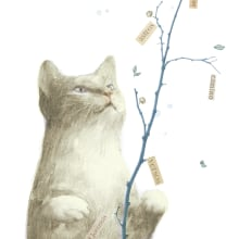 Libro El secreto de los gatos. Un proyecto de Ilustración editorial de Leonor Pérez B. - 14.02.2021